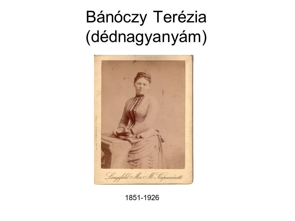 Bánóczy Terézia (dédnagyanyám) 1851-1926