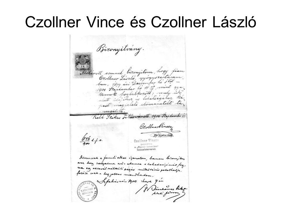 Czollner Vince és Czollner László