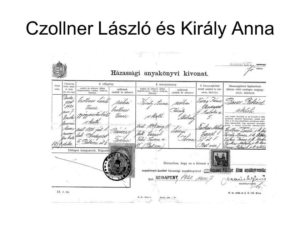 Czollner László és Király Anna