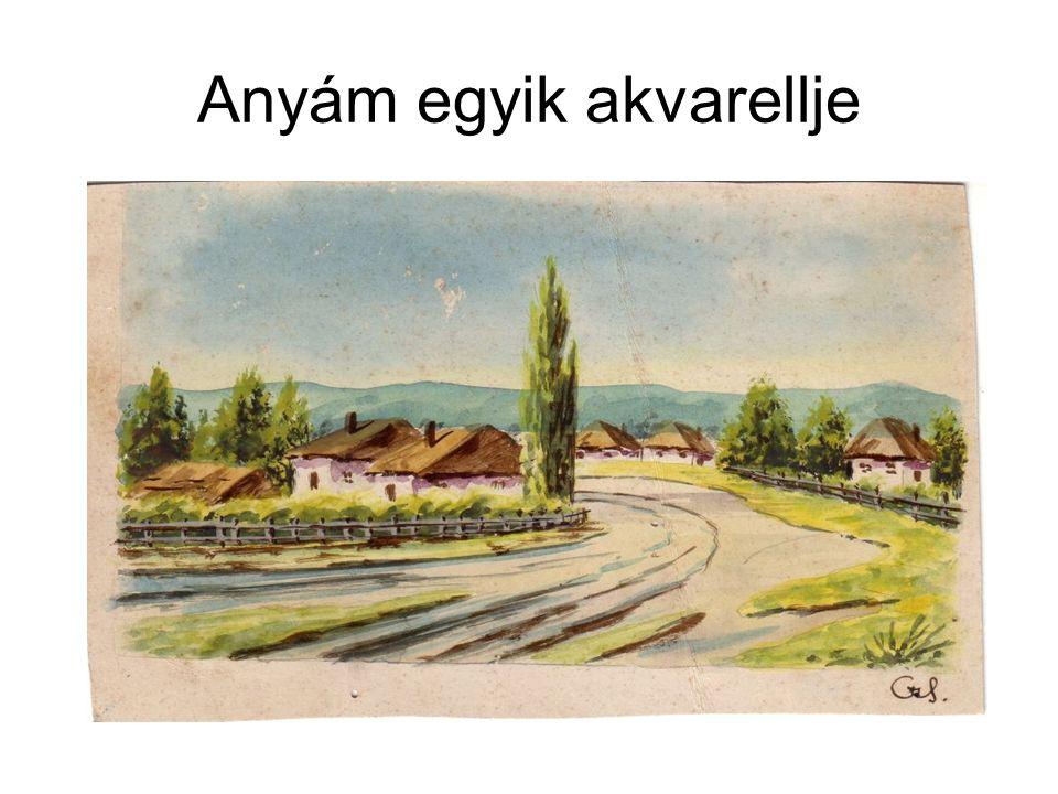 Anyám egyik akvarellje