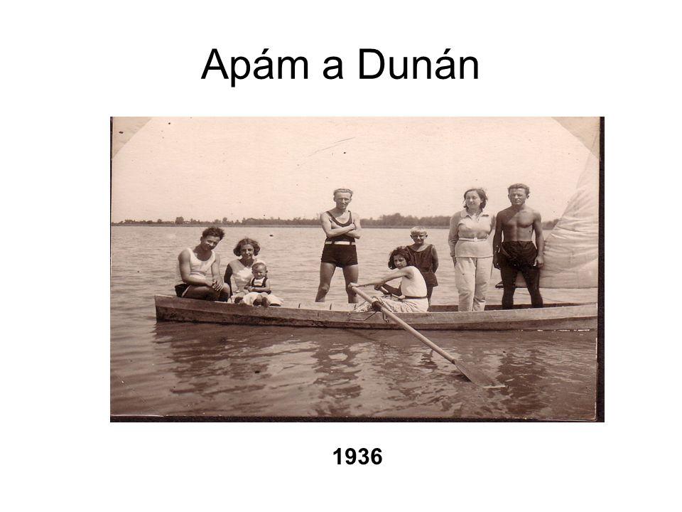 Apám a Dunán 1936