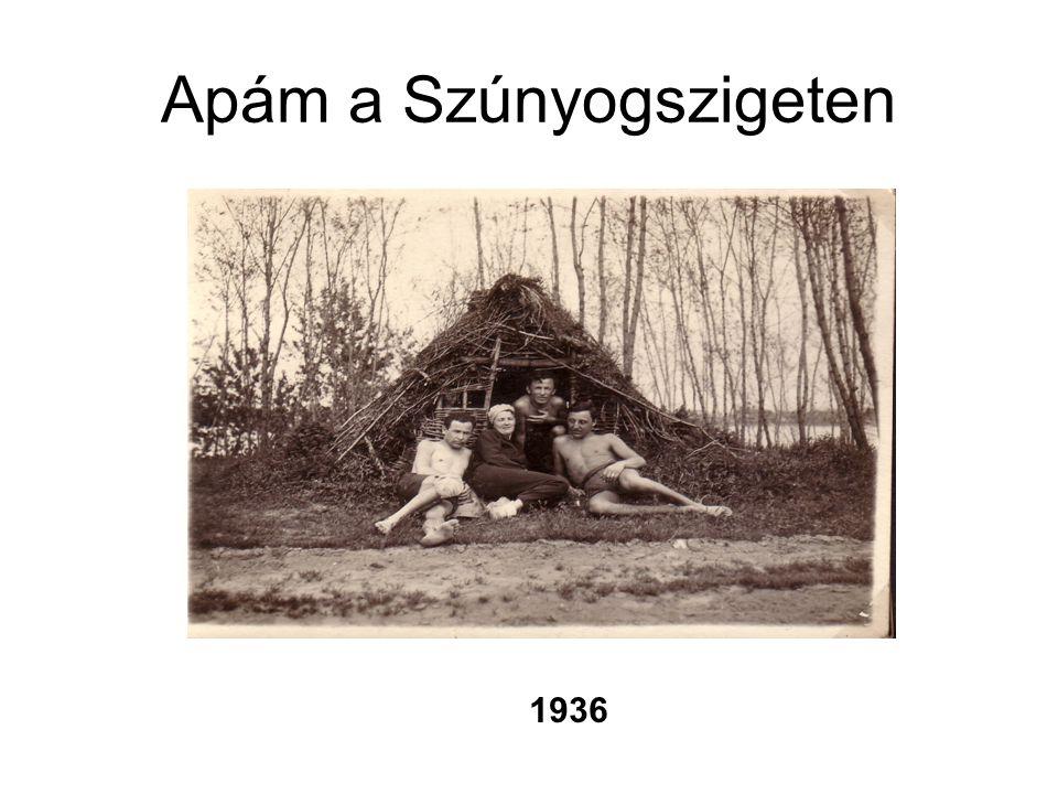 Apám a Szúnyogszigeten 1936