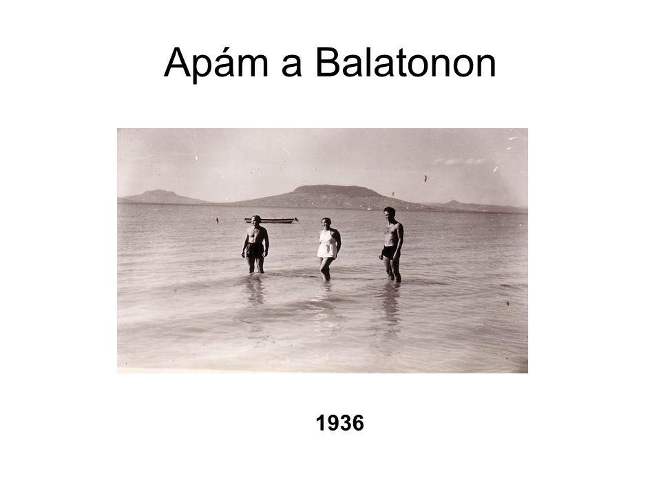 Apám a Balatonon 1936