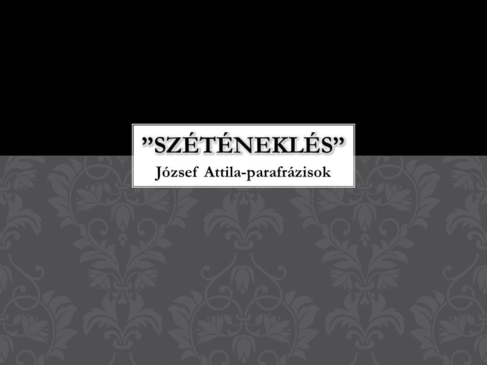 József Attila-parafrázisok