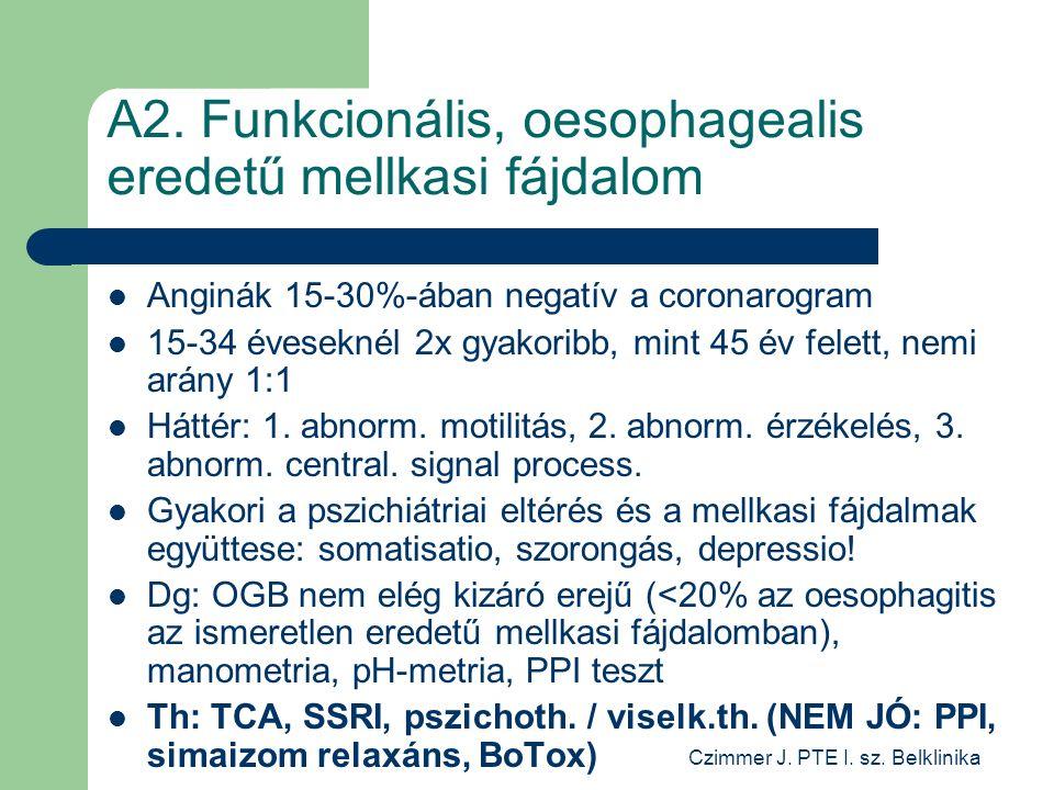 Czimmer J. PTE I. sz. Belklinika A2.
