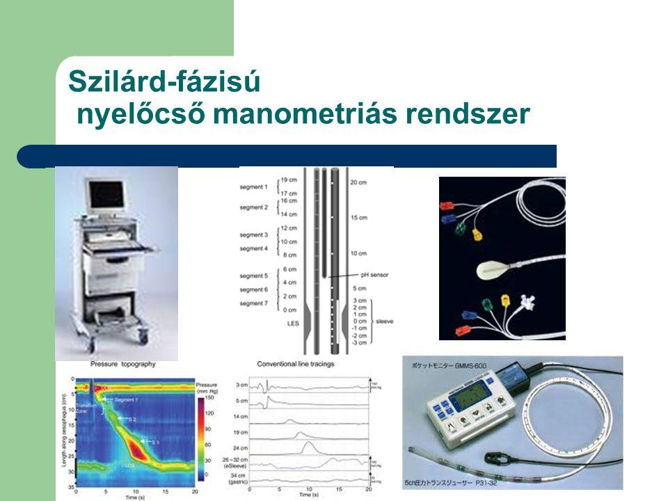 Czimmer J. PTE I. sz. Belklinika Szilárd-fázisú nyelőcső manometriás rendszer