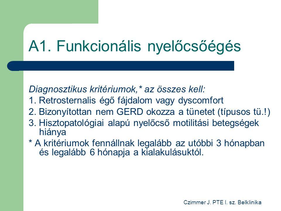 Czimmer J. PTE I. sz. Belklinika A1.