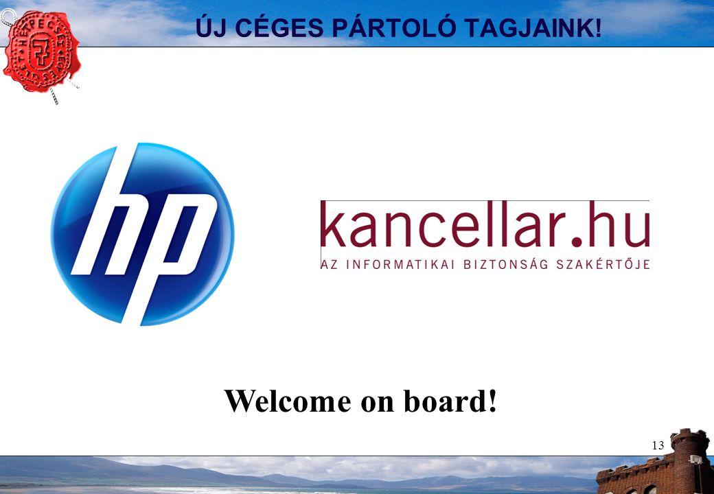 ÚJ CÉGES PÁRTOLÓ TAGJAINK! 13 Welcome on board!