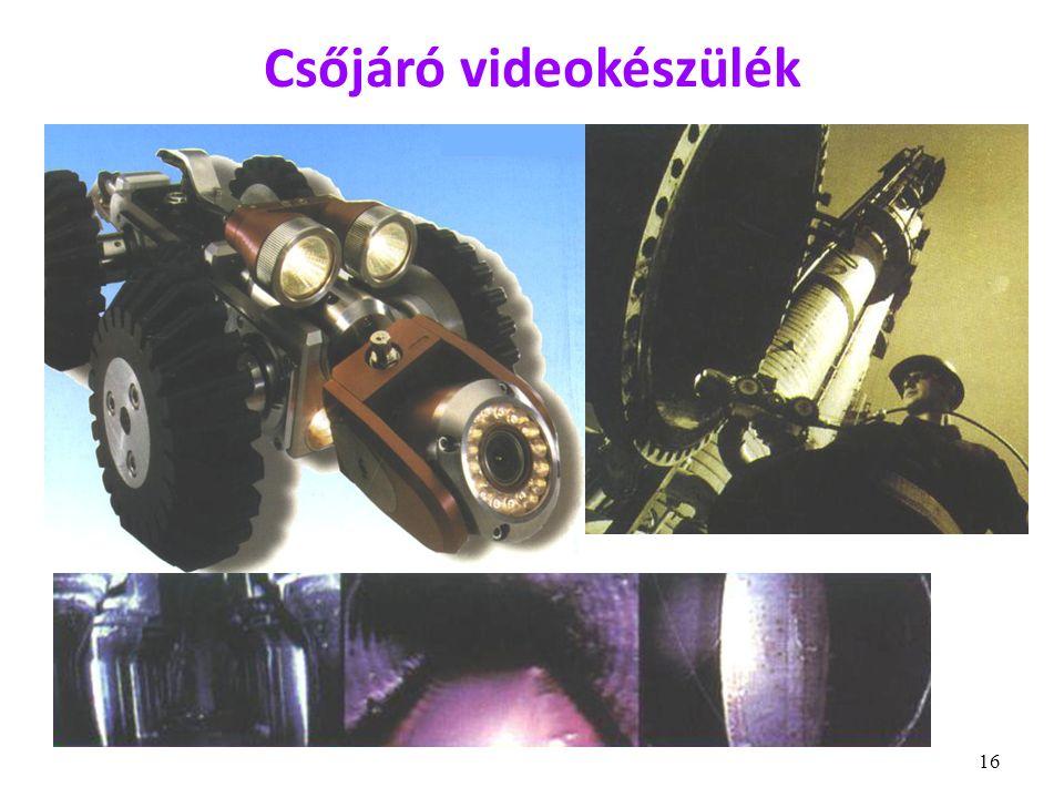 16 Csőjáró videokészülék