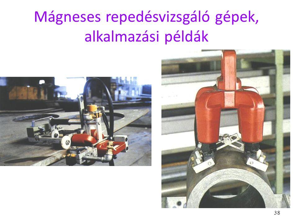 38 Mágneses repedésvizsgáló gépek, alkalmazási példák
