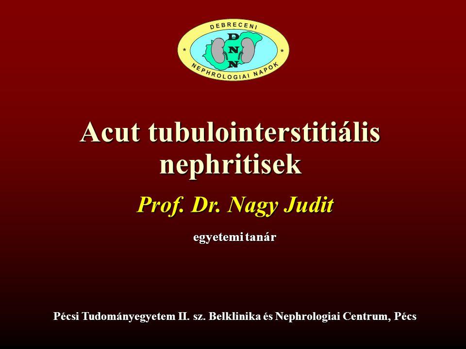 Acut tubulointerstitiális nephritisek Prof. Dr.