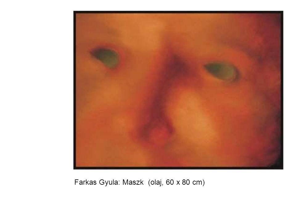 Farkas Gyula: Maszk (olaj, 60 x 80 cm)