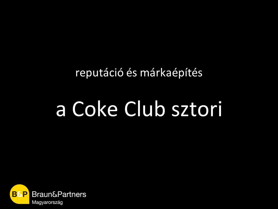 reputáció és márkaépítés a Coke Club sztori