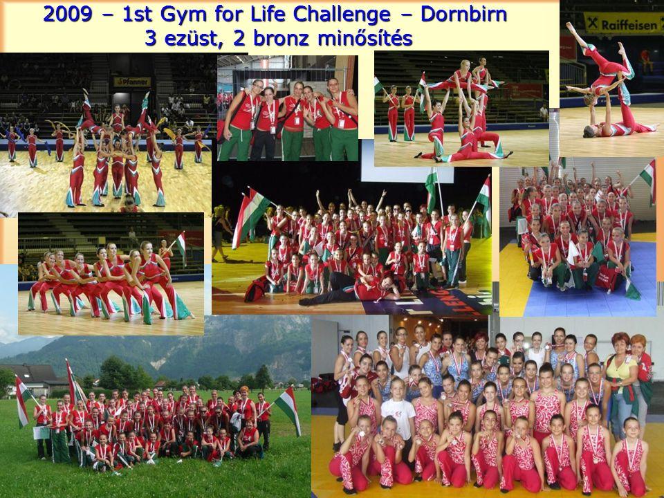 2009 – 1st Gym for Life Challenge – Dornbirn 3 ezüst, 2 bronz minősítés