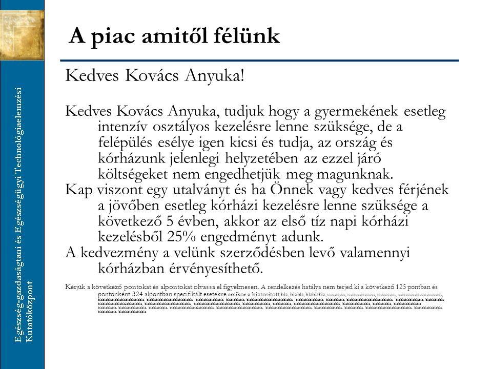 A piac amitől félünk Kedves Kovács Anyuka.