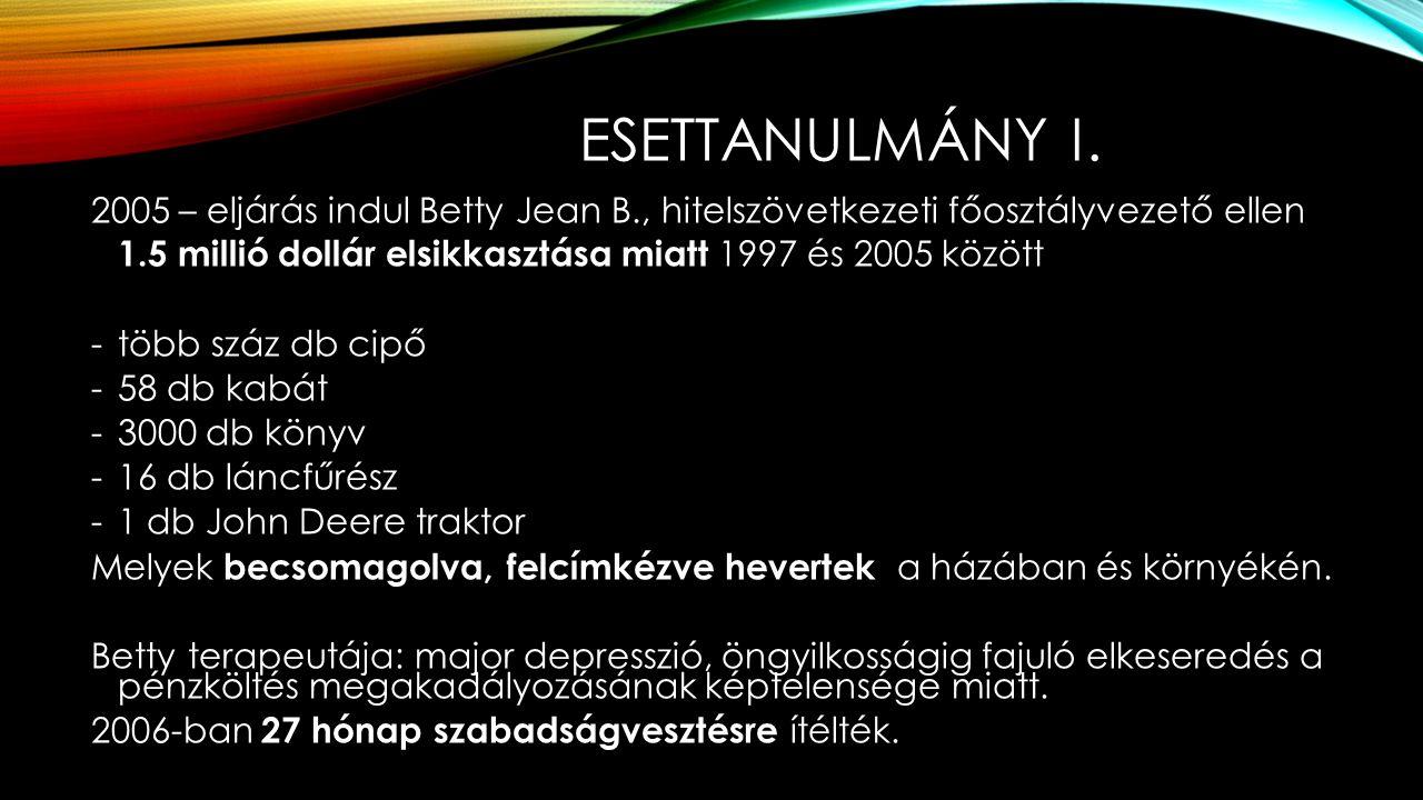 ESETTANULMÁNY I.