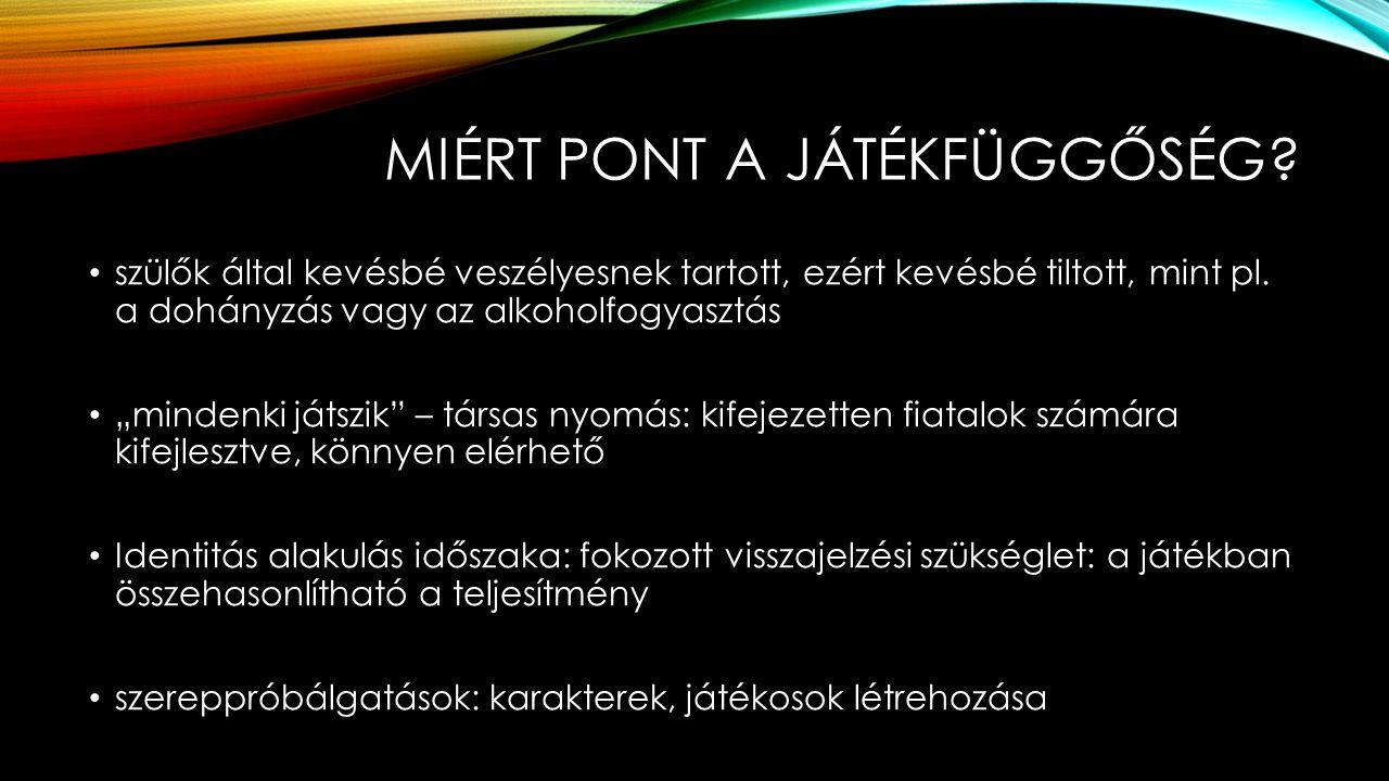 MIÉRT PONT A JÁTÉKFÜGGŐSÉG.
