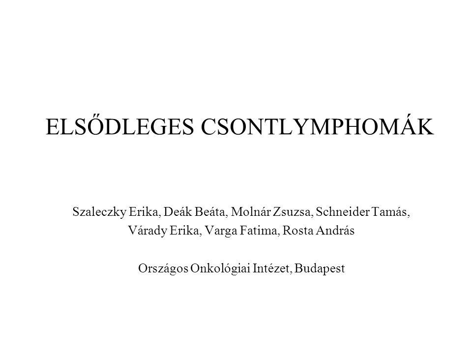 Az ortopéd-sebész szerepe a diagnosztikus biopszia és a patológiás törések stabilizálása során elengedhetetlen.