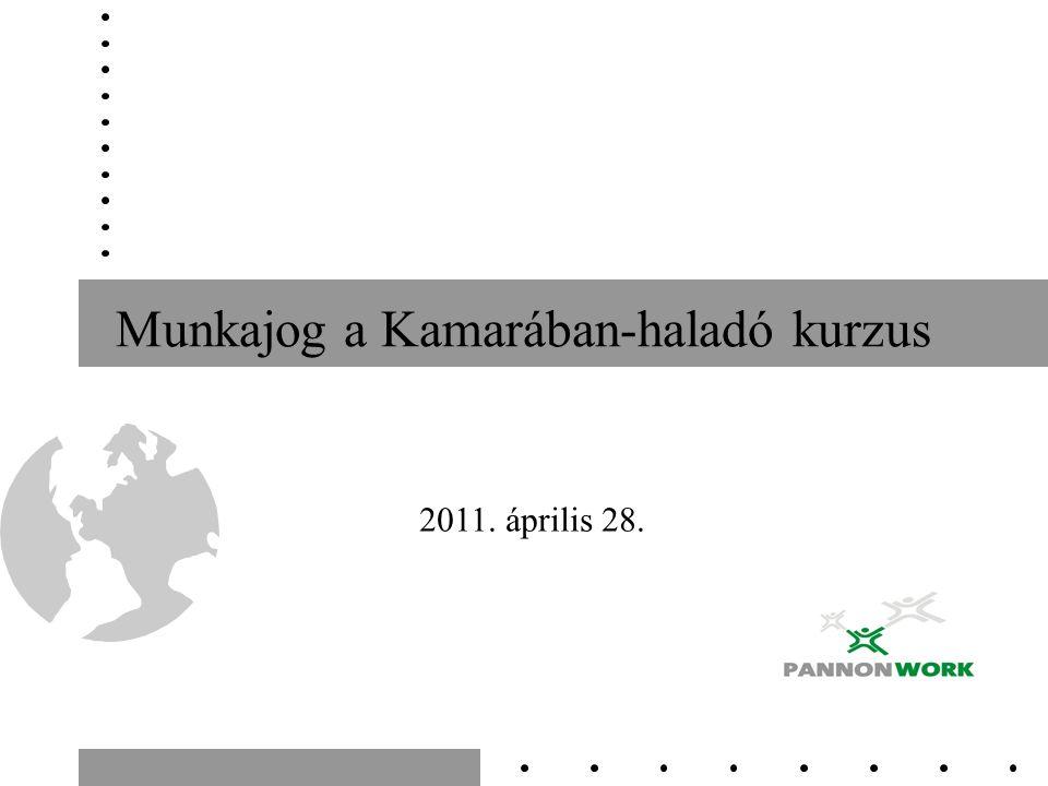 Munkajog a Kamarában-haladó kurzus 2011. április 28.