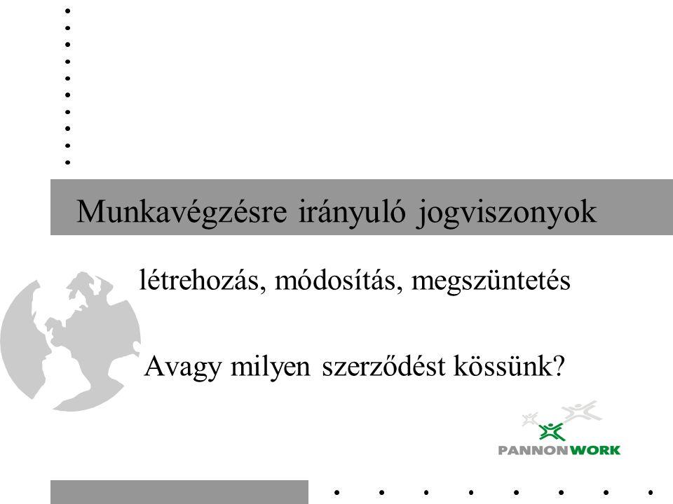 Feladatok Mit jelent(het), ha az alábbiakat munkaszerződésben olvassa.