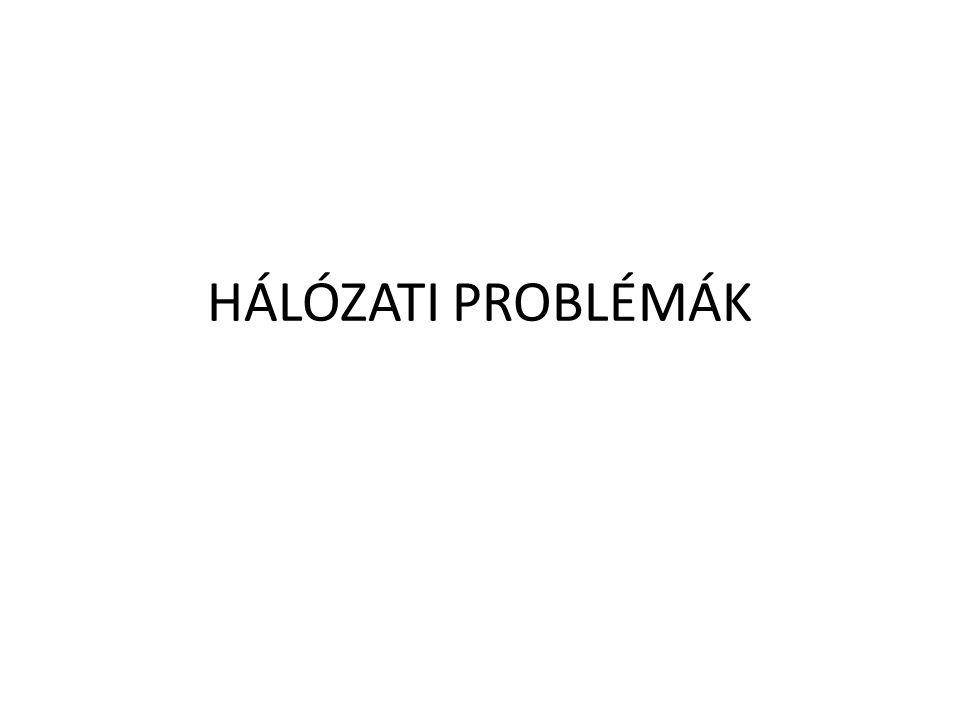 HÁLÓZATI PROBLÉMÁK