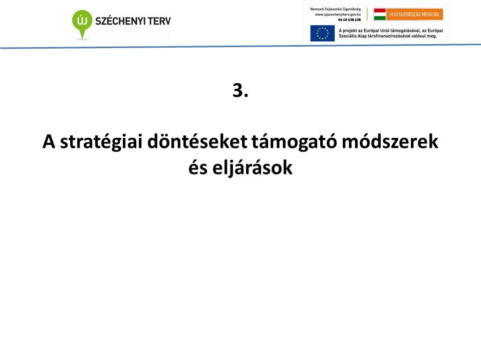 3. A stratégiai döntéseket támogató módszerek és eljárások