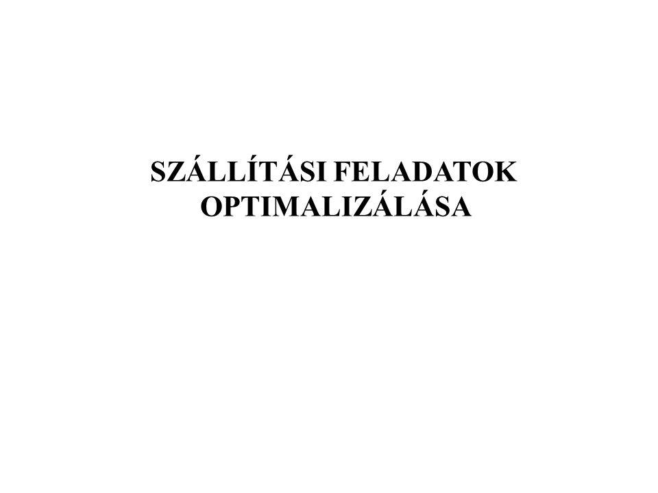 SZÁLLÍTÁSI FELADATOK OPTIMALIZÁLÁSA
