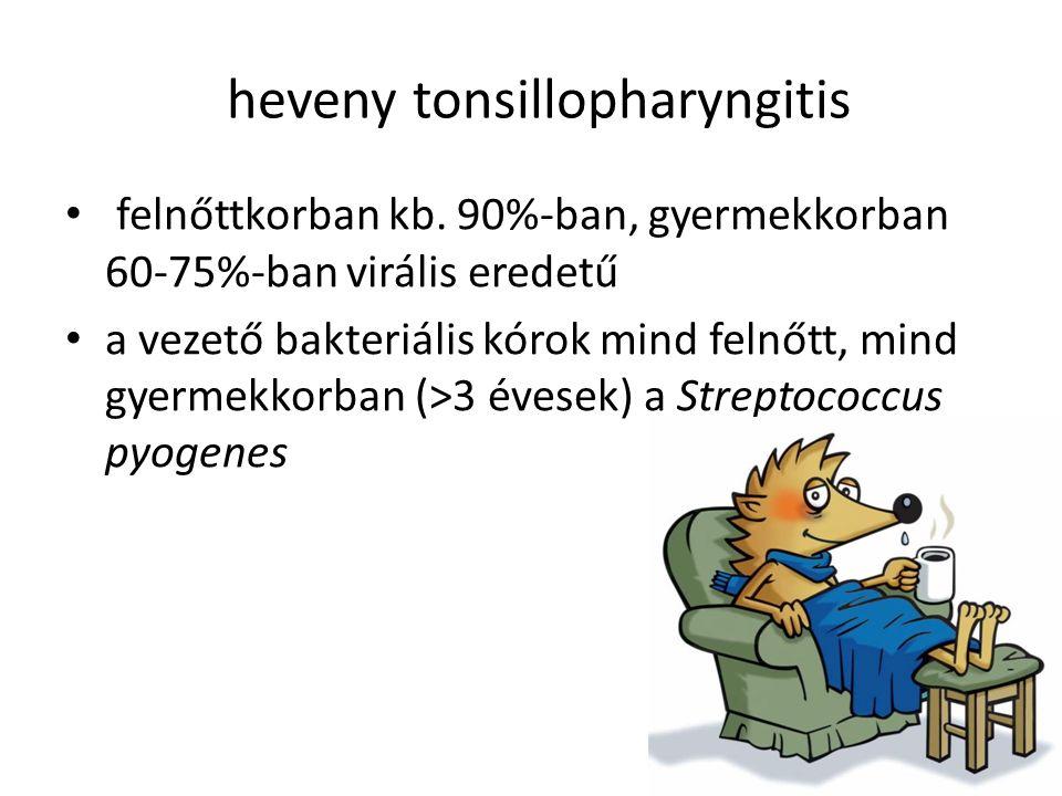 heveny tonsillopharyngitis felnőttkorban kb.