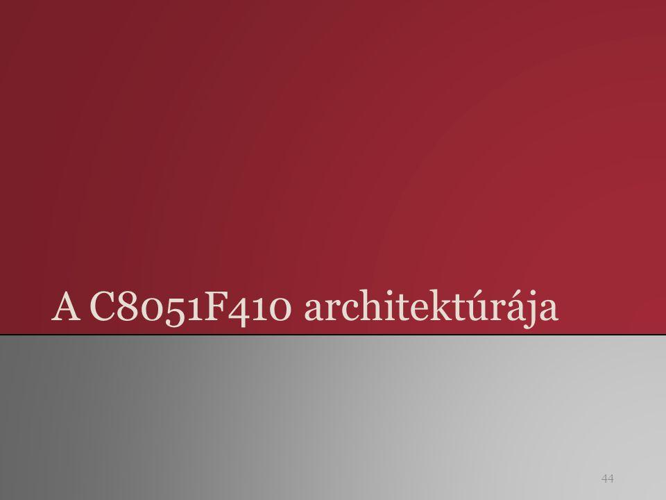 A C8051F410 architektúrája 44