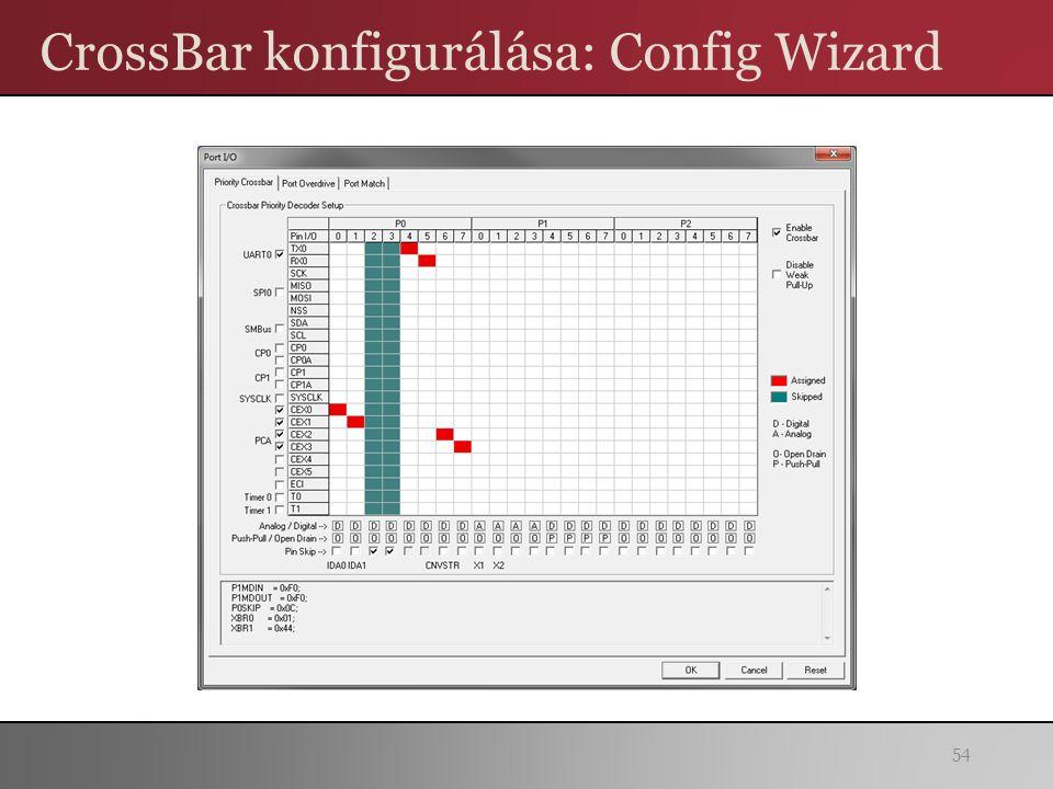 CrossBar konfigurálása: Config Wizard 54