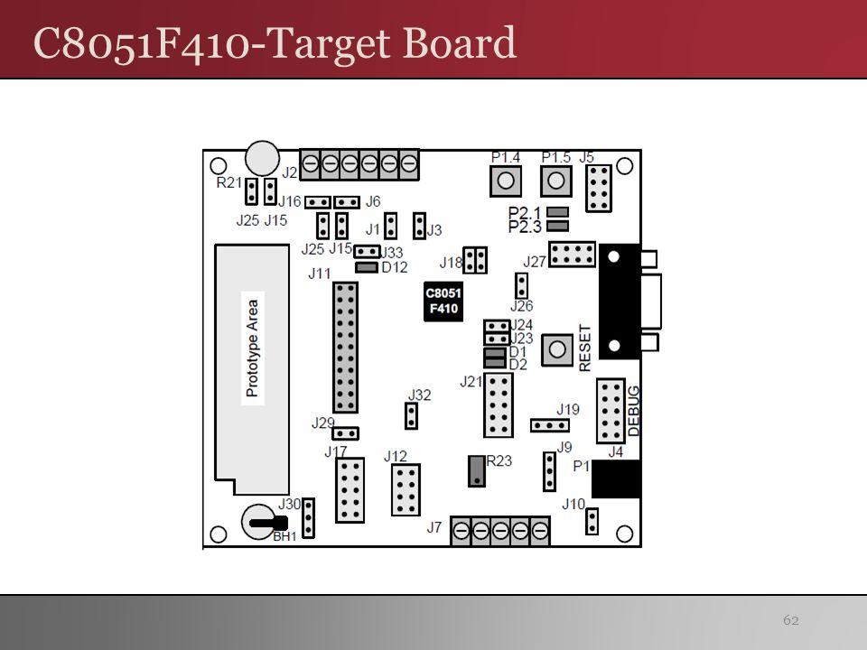 C8051F410-Target Board 62