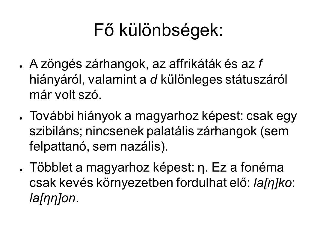 Fő különbségek: miért félhangzó a finn v és j.