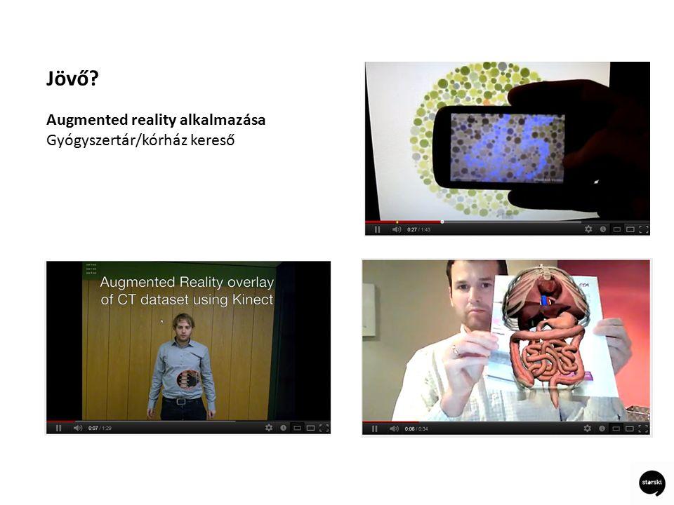 Jövő Augmented reality alkalmazása Gyógyszertár/kórház kereső