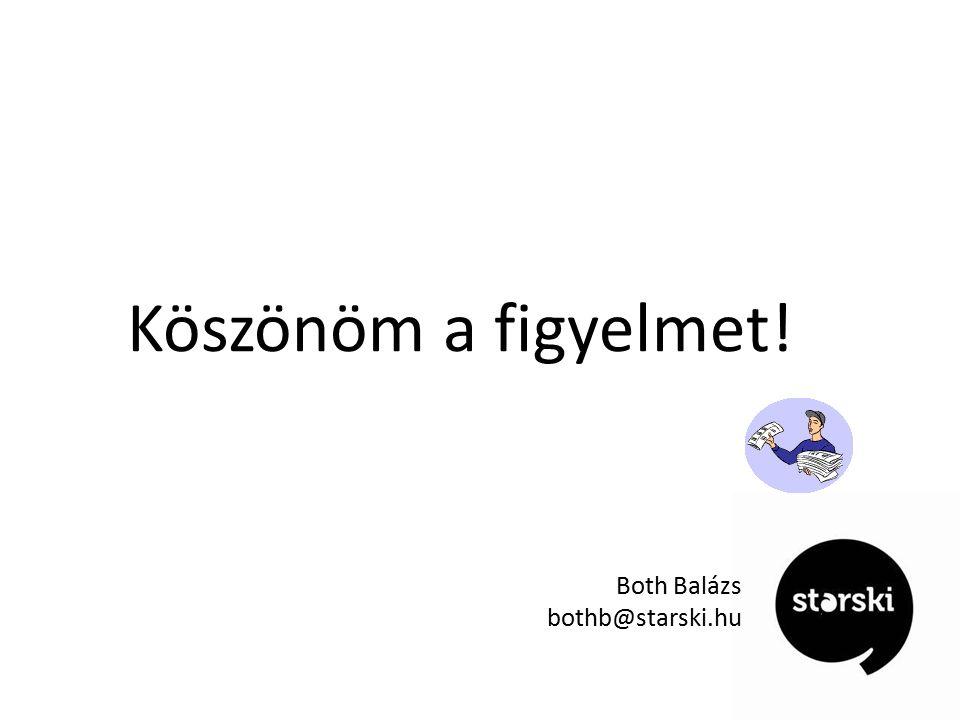Köszönöm a figyelmet! Both Balázs bothb@starski.hu