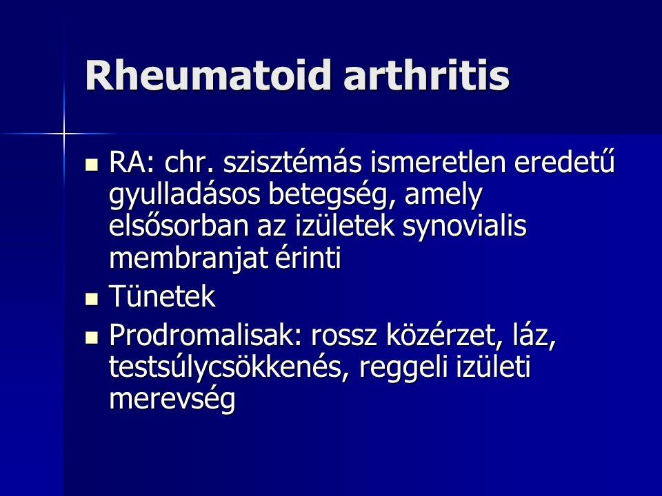 Rheumatoid arthritis RA: chr.