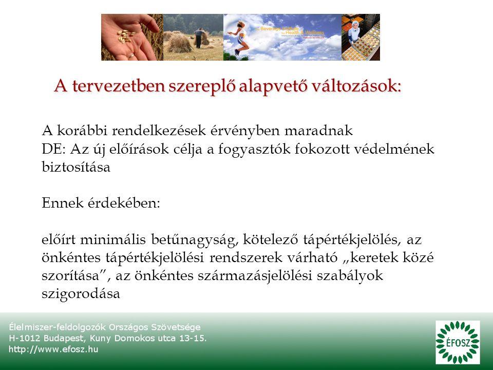 A tervezetben szereplő, csak magyar vonatkozású változás: Jogilag nem lehetséges a magyar dátumjelölési jogszabályok fenntartása a rendelet-tervezet hatályba lépését követően Ezért: 2011 júliusától át kell térni a nap/hónap/év jelölési sorrendre, a szöveges sorrend-magyarázat önkéntesen továbbra is alkalmazható lesz (átmeneti idő: 2011.