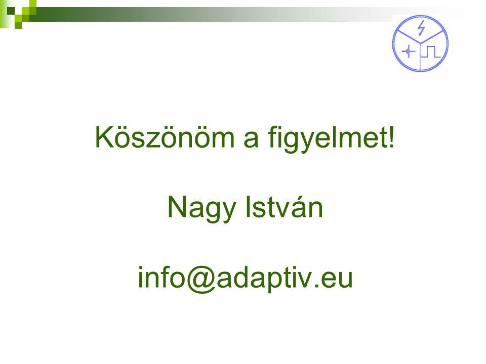 Köszönöm a figyelmet! Nagy István info@adaptiv.eu