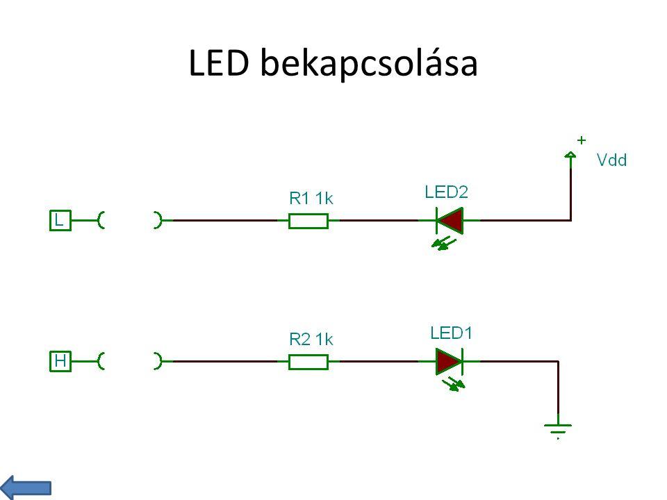 LED bekapcsolása