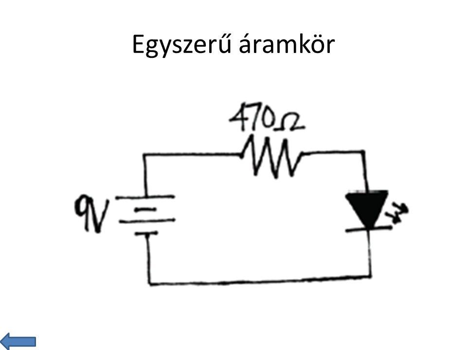 Csatlakoztassunk ellenállást a 9V-os generátorhoz