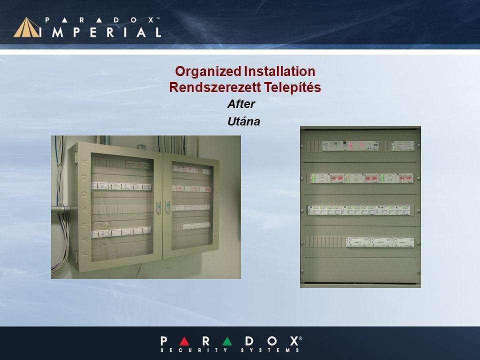 Organized Installation Rendszerezett Telepítés After Utána