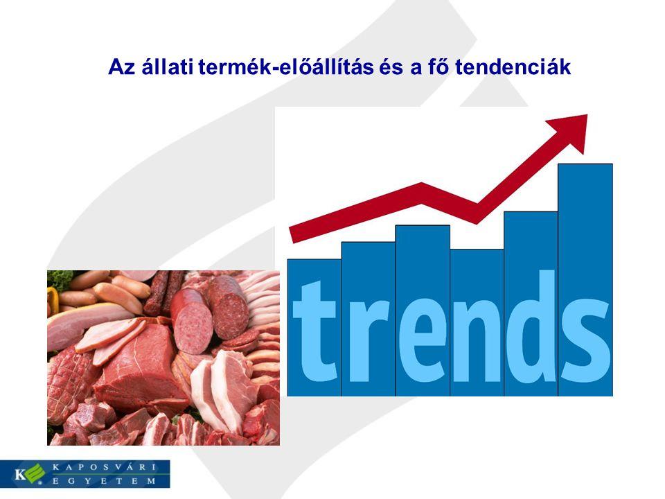 Az állati termék-előállítás és a fő tendenciák