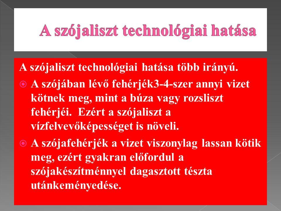 A szójaliszt technológiai hatása több irányú.