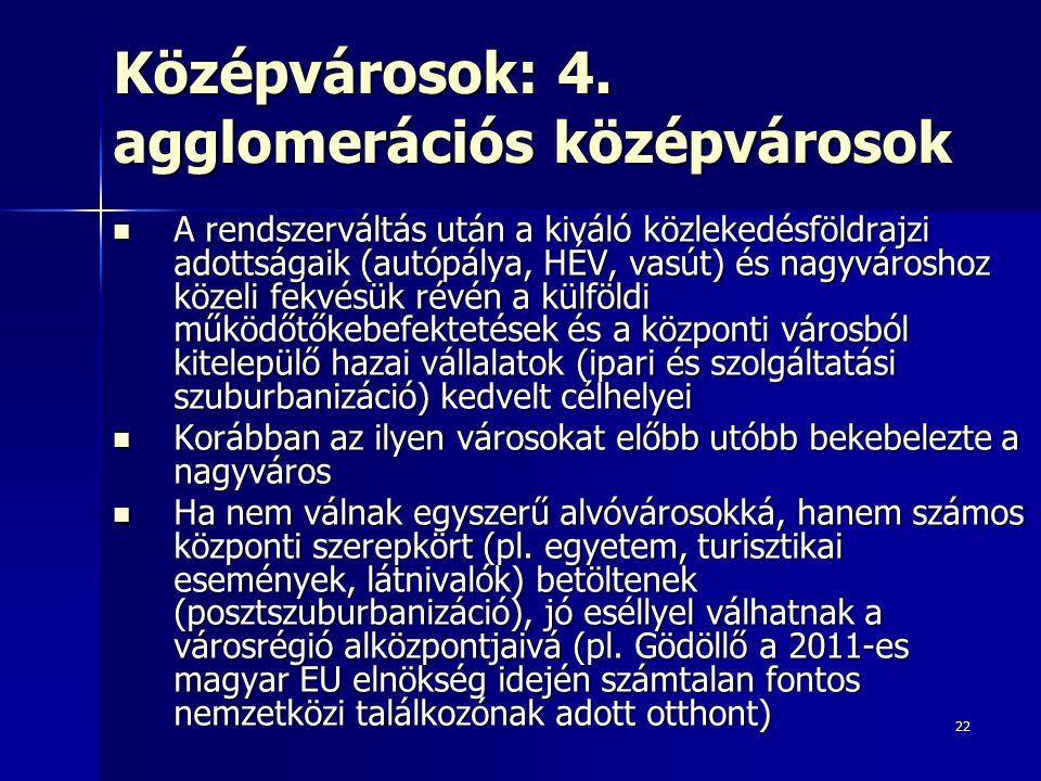 22 Középvárosok: 4.