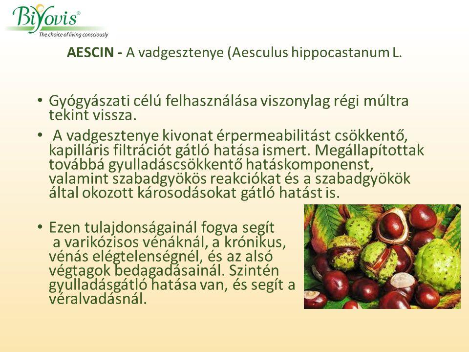 AESCIN - A vadgesztenye (Aesculus hippocastanum L.
