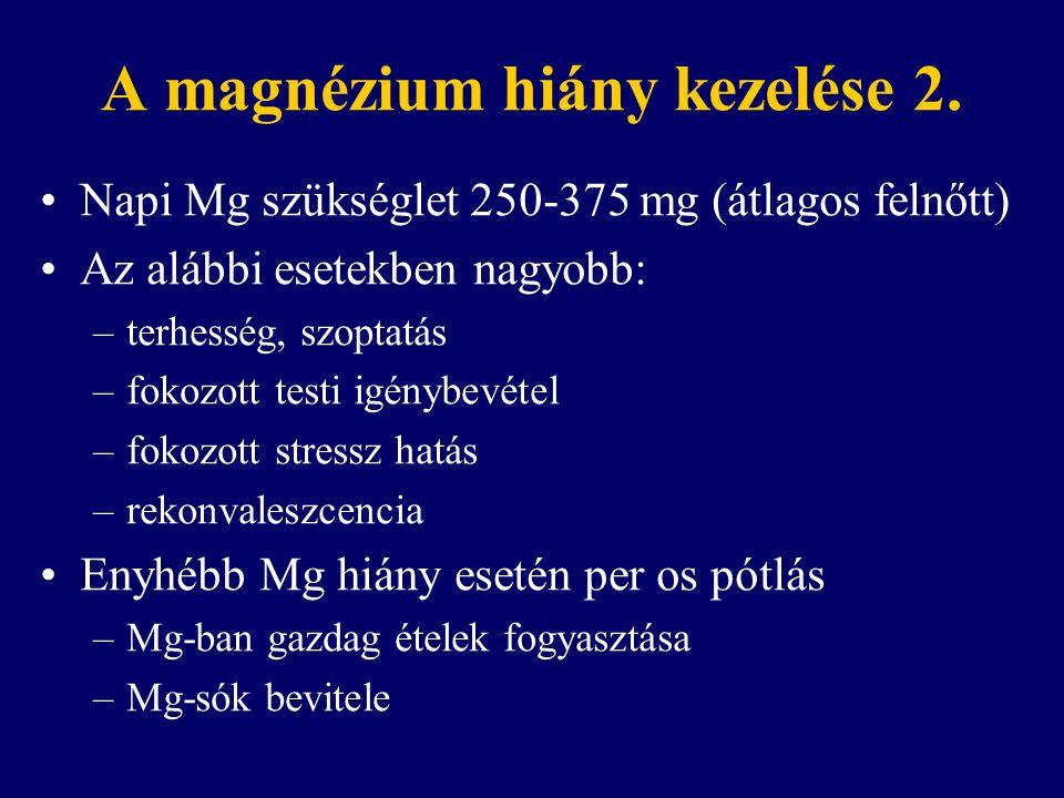 A magnézium hiány kezelése 2.