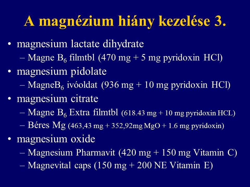 A magnézium hiány kezelése 3.