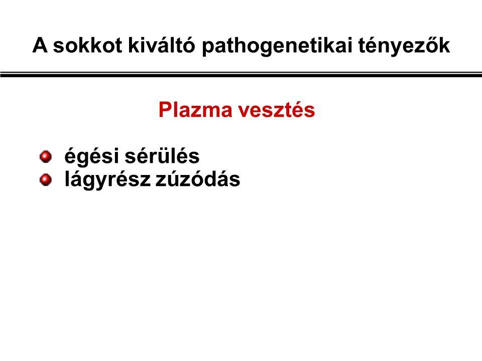 A mikrocirkuláció változásai sokkban  anyagcsere végtermékek  vazodilatátor metabolitok (pl.