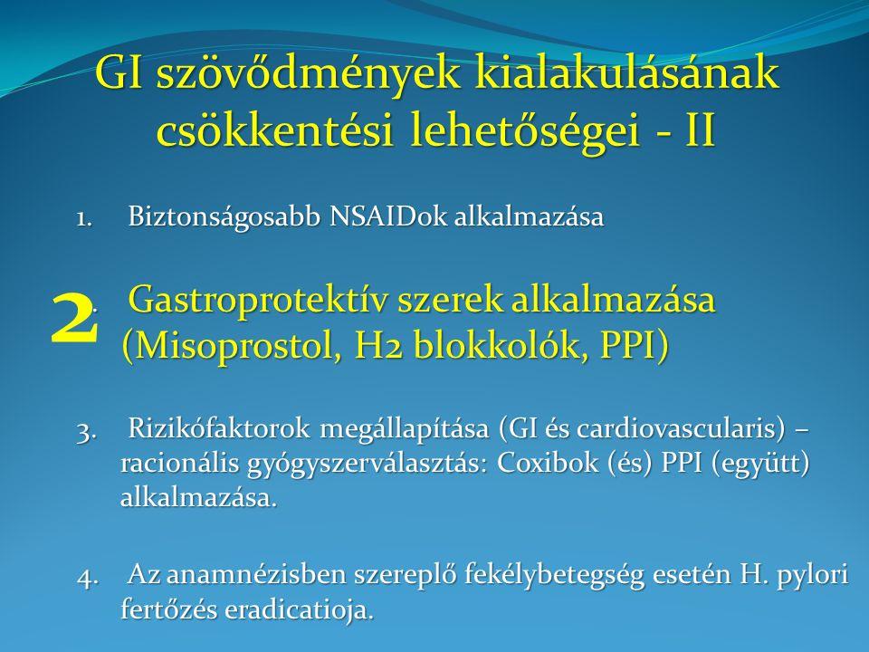 GI szövődmények kialakulásának csökkentési lehetőségei - II 1.