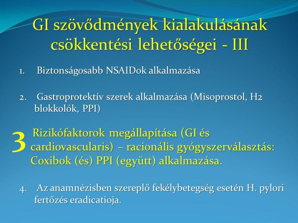 GI szövődmények kialakulásának csökkentési lehetőségei - III 1.