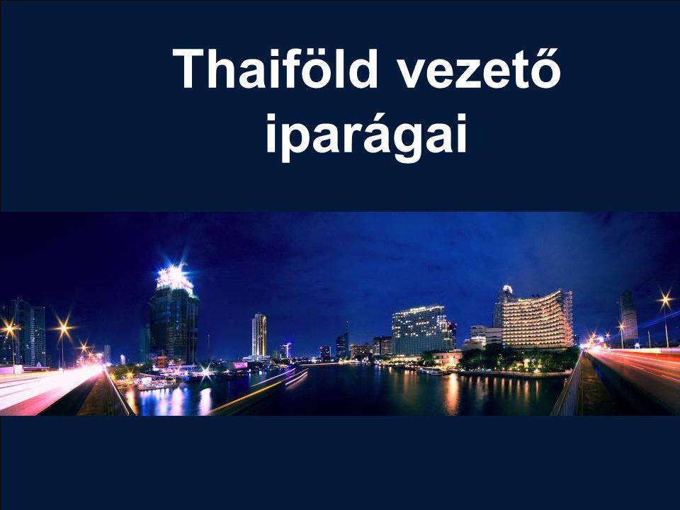 Thaiföld vezető iparágai
